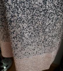 Rózsaszín fémszálas, csillogó NEXT pulcsi 42-44