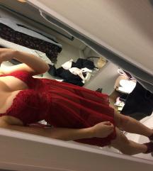 piros hálóruha