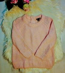 H&M mohair tartalmú púder kötött pulóver XS