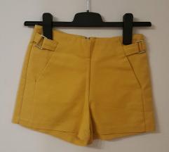 Bershka sárga elegáns rövidnadrág