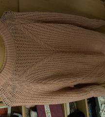 Babarózsaszín kötött pulóver