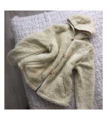 Kapucnis teddy coat