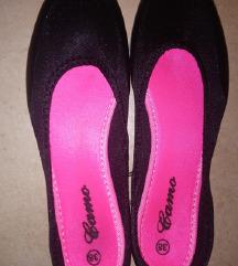 Fekete szövet balerina cipő