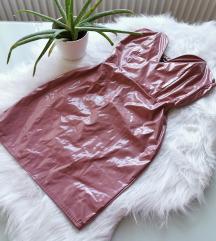 Nude latex hatású ruha S