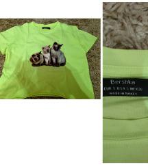 Cicás bershka crop top neon színű