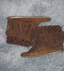 Zara trf velúr cipő