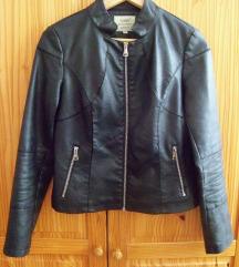 fekete műbőr dzseki
