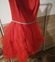 Piros csodaszép ruha S