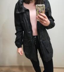 ŐSZ! F&F fekete hosszú, nagyzsebes kabát