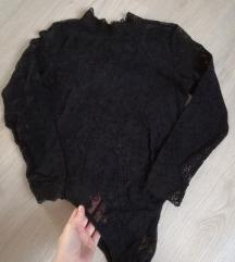 Fekete csipke body