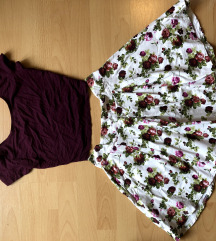 Zara szoknya, Bersha crop top