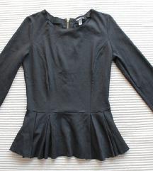 AKCIÓ! MANGO Suit fekete bodycon felső S-M