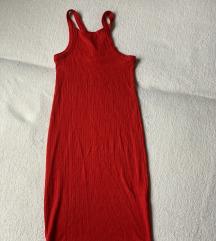 Bodycon piros bordás ruha