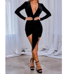 Fekete bársony ruha