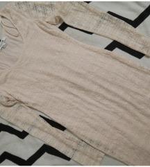 Púder bodycon csipke ruha M