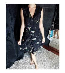 Fekete virágos ruha