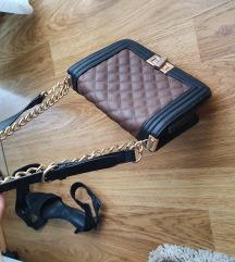 Fekete-barna táska