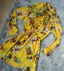 Missi London Sárga virágos ruha S-es ÚJ