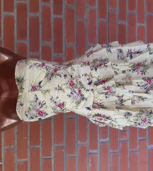 Virágmintás sárga ruha