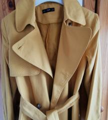 Mustársárga őszi átmeneti kabát