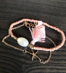 Rózsaszín karkötő szett