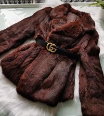 Nyuszi valódi szőrme kabát S/M
