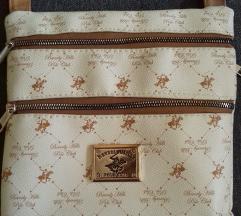 Barna-fehér crossbody táska