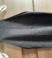 ZARA Bordás fekete pamut felső M