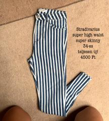 Stradivarius super high waist skinny farmer (új)