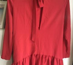 Zara piros overál jumpsuit