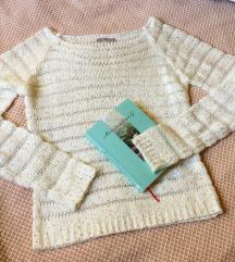 Orsay fehér - arany kötött pulóver