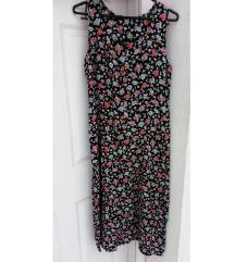 Vintage végig gombos virágos ruha