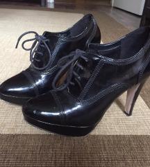 Deichmann fekete lakk magassarkú cipő