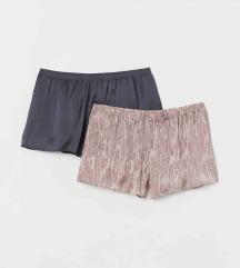 H&M szatén pizsama sort 2db