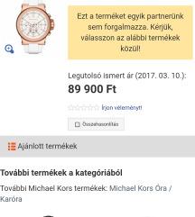 Eredeti Michael Kors óra eredeti ár negyedéért