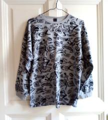 Különleges mintájú, vintage pulcsi