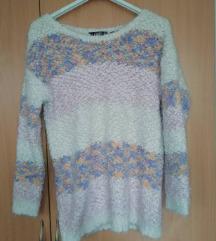 Kötött-szőrös pulóver