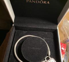 Pandora 17cm szív karkötő