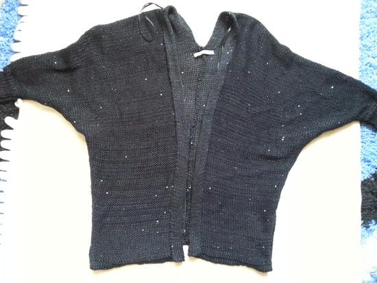 Orsay kardigán, fényes fekete XS