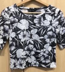 fekete-fehér crop top