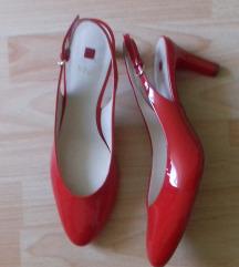 Högl piros, lakk, bőr új szandál  42, 8-as méret