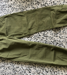 Zara khaki laza nadrág új S