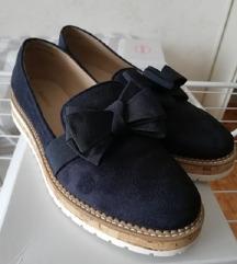 Sötétkék masnin loafer
