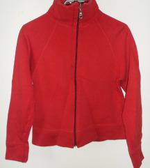 S, 36 - Piros cipzáros pulcsi, kardigán, pulóver