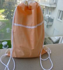 Hátizsák - narancs csipke