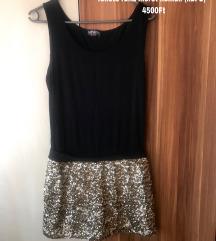 Amnesia Arany szoknyás fekete ruha méret nélküli
