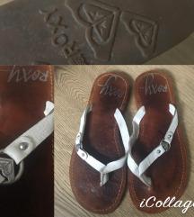 Roxy bőr papucs, flipflop (35-36-os)