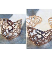 Arany mintázott -csuklóra állítható- karkötő