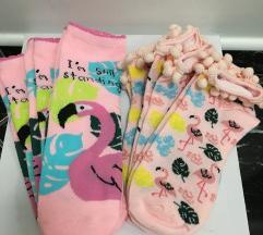 Flamingós női zokni 3 pár vadonatúj