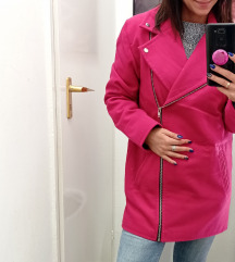 Pink szövet kabát